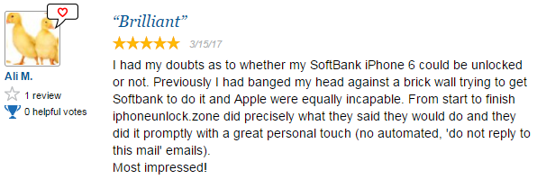 iPhoneUnlock Zone Review Softbank Japan iPhone 6 Unlock