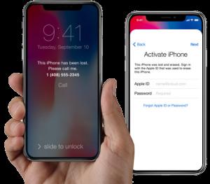 iCloud Activation Lock screens of iCloud Locked iPhones