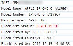 Blacklist status report 1