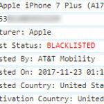 Sample of IMEI Blacklist status check report
