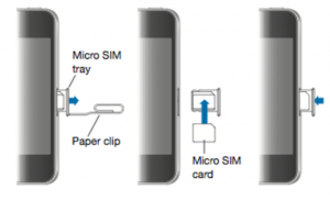 Eject SIM card to fix SIM card not working issue