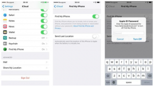Method to deactivate Find My iPhone