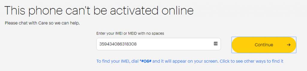 Sprint BYOD IMEI Check