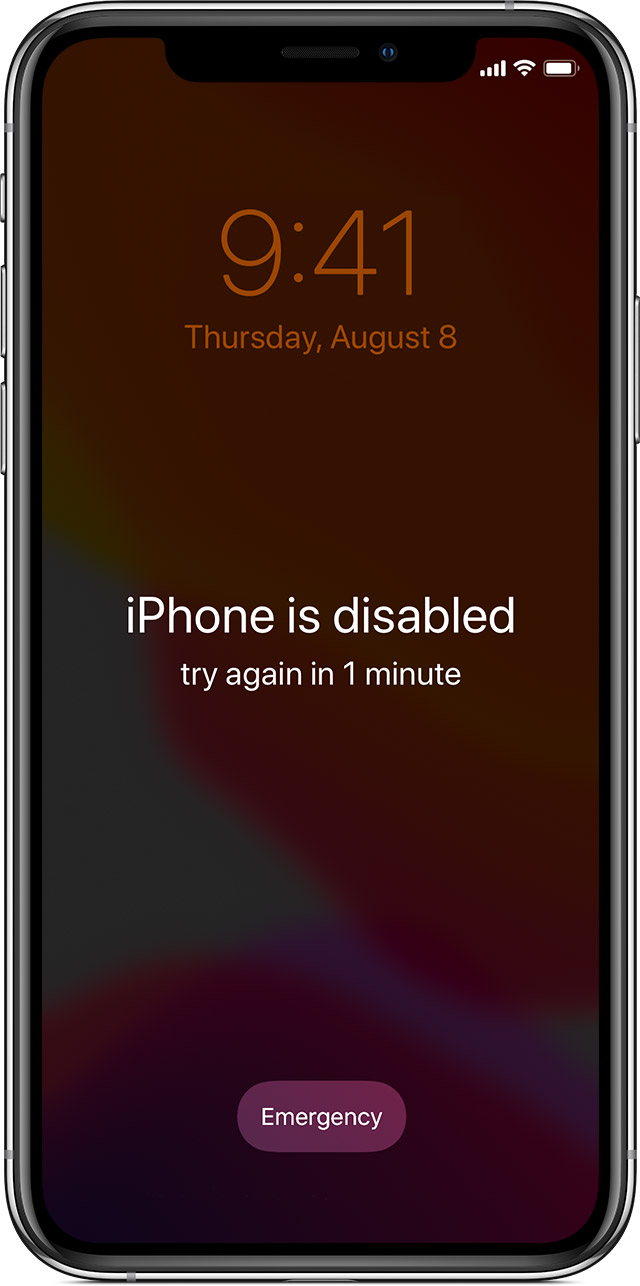 Unlock a Locked iPhone with a iPhone is disabled issue