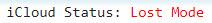 iCloud status LOST