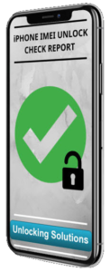 iPHONE IMEI UNLOCK CHECK REPORT