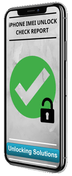 iPHONE IMEI UNLOCK CHECK REPORT