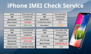 iPhone IMEI Unlock Check service