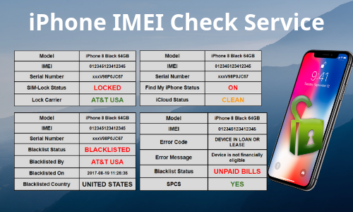 iPhone IMEI Unlock Check service