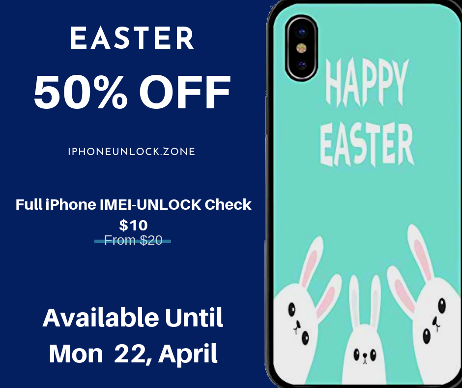 iPhone IMEI Unlock Check easter offer